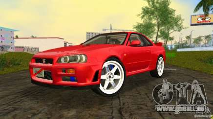 Nissan Skyline GTR R34 für GTA Vice City