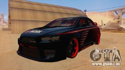 Mitsubishi Lancer Evolution X Pro Street pour GTA San Andreas