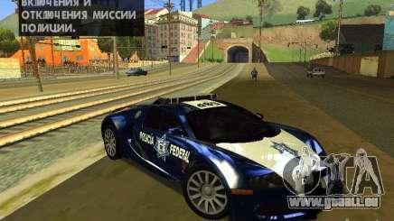 Bugatti Veyron Federal Police für GTA San Andreas