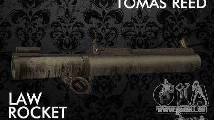 LAW Rocket Launcher Retextured pour GTA San Andreas