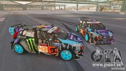 Ford Fiesta Gymkhana - Ken Block (Hoonigan) 2013 für GTA 4