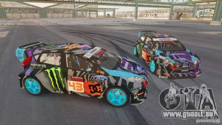 Ford Fiesta Gymkhana - Ken Block (Hoonigan) 2013 pour GTA 4