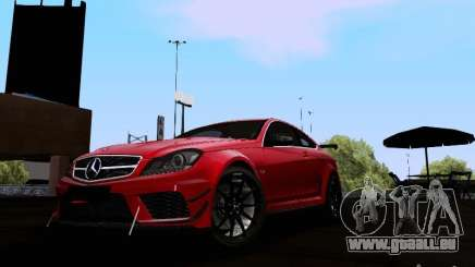 Mercedes-Benz C63 AMG 2012 Black Series pour GTA San Andreas