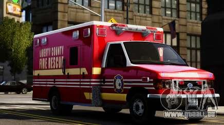 Ford Econoline E350 Ambulance für GTA 4