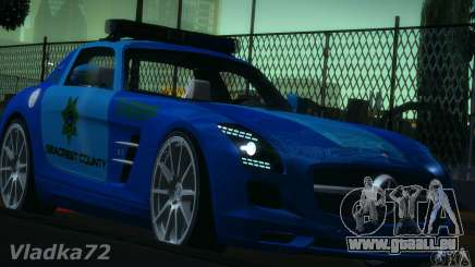 Mercedes-Benz SLS AMG Blue SCPD für GTA San Andreas