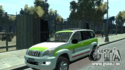 Toyota Land Cruiser Prado Police pour GTA 4