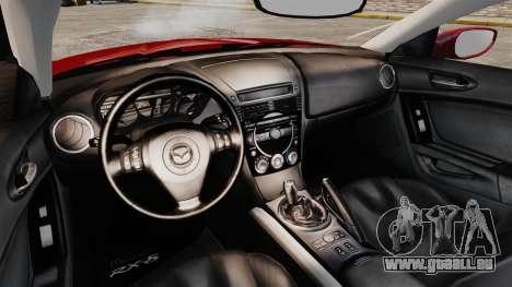 Mazda RX-8 Light Tuning pour GTA 4 est une vue de l'intérieur