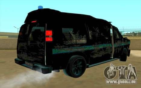 GMC Savana AWD FSB pour GTA San Andreas vue intérieure