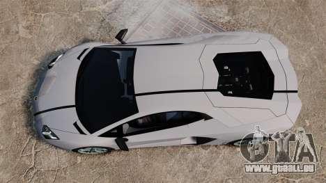 Lamborghini Aventador LP700-4 2012 EPM pour GTA 4 Vue arrière