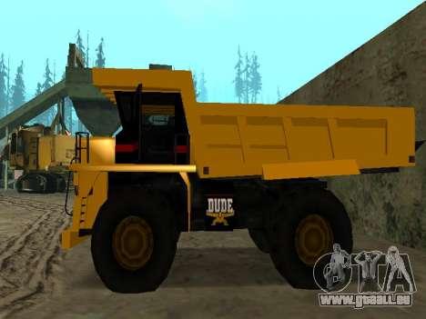 Nouveau Dumper pour GTA San Andreas vue arrière