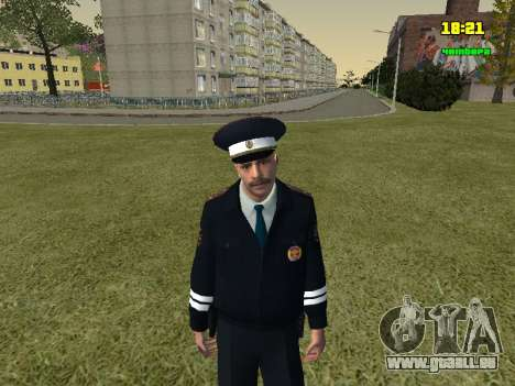 Russisch TRAFFIC POLICE Officer für GTA San Andreas