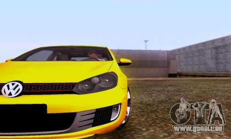 Volkswagen Golf 6 GTI pour GTA San Andreas sur la vue arrière gauche