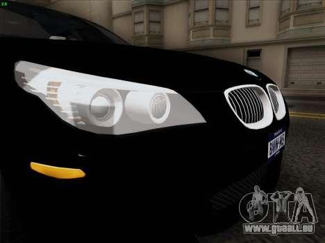 BMW M5 Hamann pour GTA San Andreas vue intérieure