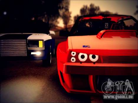 VAZ 21093 Devil pour GTA San Andreas sur la vue arrière gauche