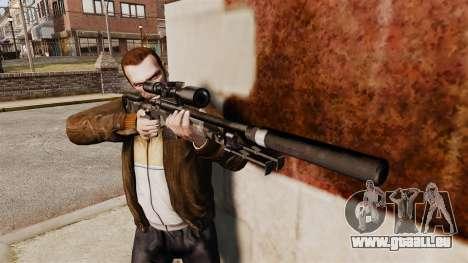 AW L115A1 Scharfschützengewehr mit einem Schalld für GTA 4 dritte Screenshot