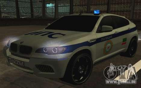 BMW X 6 M mit blinkenden Lichter PPP für GTA San Andreas