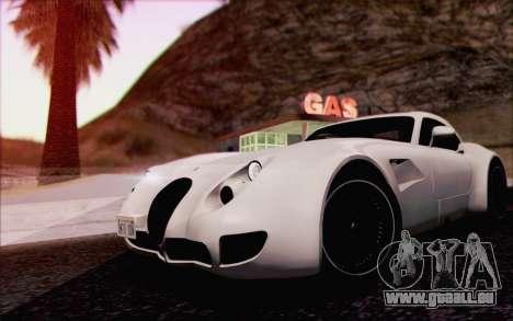 Wiesmann GT MF5 2010 für GTA San Andreas Unteransicht