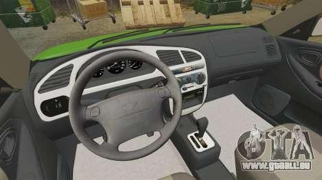 Daewoo Lanos FL 2001 US pour GTA 4 est une vue de l'intérieur