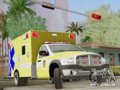 Dodge Ram Ambulance BCFD Paramedic 100 pour GTA San Andreas roue
