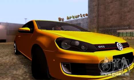 Volkswagen Golf 6 GTI pour GTA San Andreas laissé vue