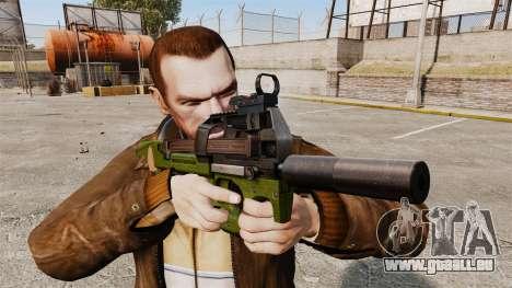 Belge FN P90 pistolet mitrailleur v2 pour GTA 4 troisième écran