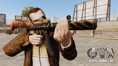 MP5SD mitraillette v4 pour GTA 4 troisième écran