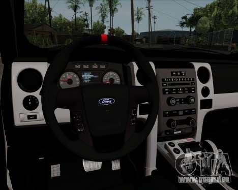 Ford F-150 SVT Raptor 2011 für GTA San Andreas Unteransicht