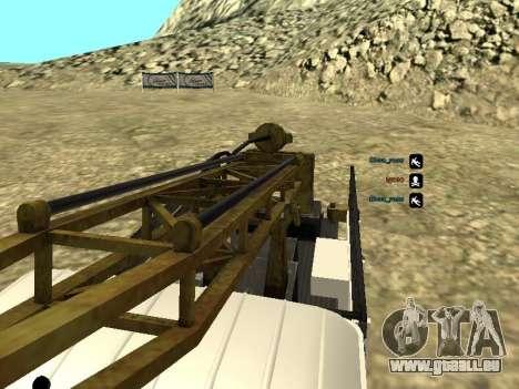 66 Gas Bohren für GTA San Andreas obere Ansicht