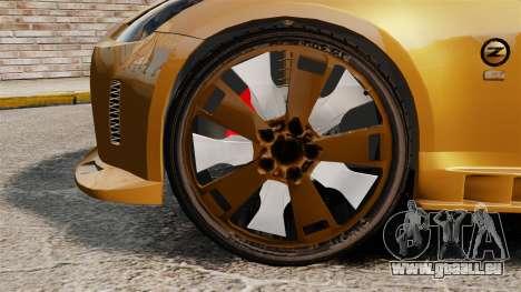 Nissan 350Z Tuning pour GTA 4 Vue arrière