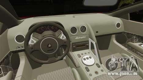 Lamborghini Murcielago 2005 pour GTA 4 est une vue de l'intérieur