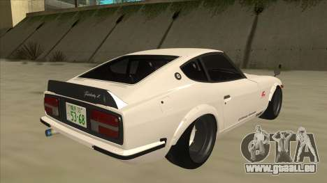 Nissan Fairlady Z - 240z für GTA San Andreas zurück linke Ansicht