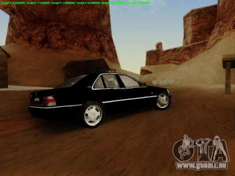 Mercedes-Benz W140 für GTA San Andreas Seitenansicht