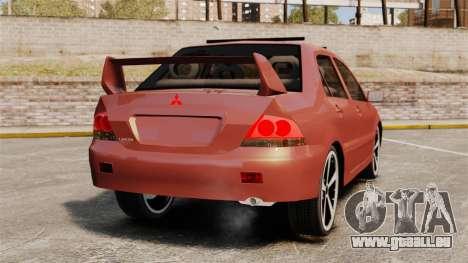 Mitsubishi Lancer Evolution IX 1.6 für GTA 4 hinten links Ansicht