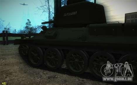 T-34-85 modèle 1945 pour GTA San Andreas vue arrière