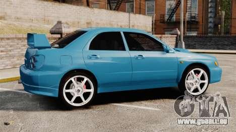 Subaru Impreza für GTA 4 linke Ansicht