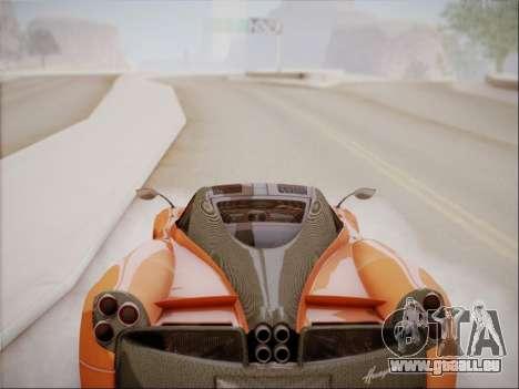 Pagani Huayra für GTA San Andreas Innenansicht
