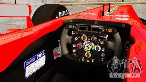 Ferrari F138 2013 v4 pour GTA 4 est une vue de l'intérieur