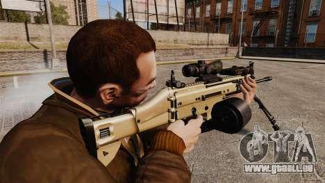 Machine d'assaut FN SCAR-L pour GTA 4 secondes d'écran