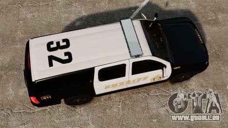 Chevrolet Suburban GTA V Blaine County Sheriff für GTA 4 rechte Ansicht