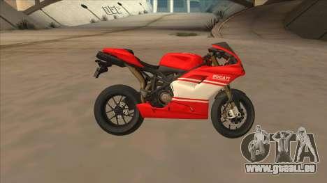 Ducatti Desmosedici RR 2012 für GTA San Andreas linke Ansicht