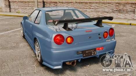 Nissan Skyline R34 GT-R Z-tune für GTA 4 hinten links Ansicht