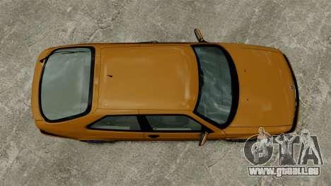 Saab 9-3 Aero Coupe 2002 pour GTA 4 Vue arrière