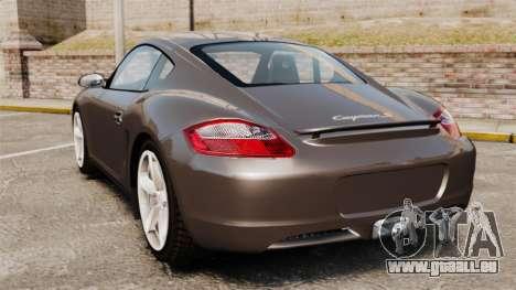 Porsche Cayman S pour GTA 4 Vue arrière de la gauche