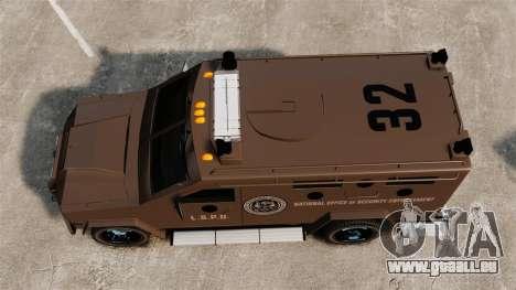 LENCO Bearcat gepanzerte LSPD GTA V für GTA 4 rechte Ansicht