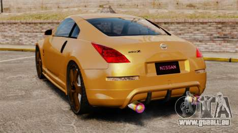 Nissan 350Z Tuning pour GTA 4 Vue arrière de la gauche