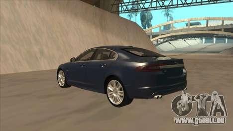 Jaguar XFR 2010 v1.0 für GTA San Andreas Rückansicht