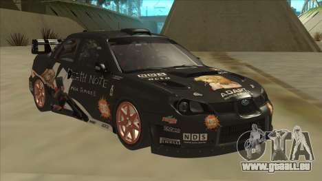 Subaru Impreza WRC Itasha pour GTA San Andreas laissé vue