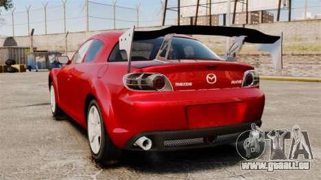 Mazda RX-8 Light Tuning pour GTA 4 Vue arrière de la gauche