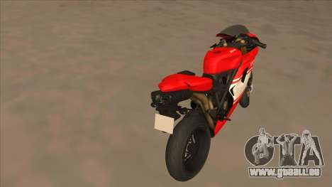 Ducatti Desmosedici RR 2012 für GTA San Andreas zurück linke Ansicht