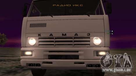 KAMAZ-54112 pour GTA San Andreas vue intérieure